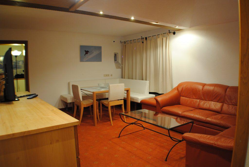 Lounge of village centre apartment