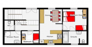 St.Anton village centre apartment layout