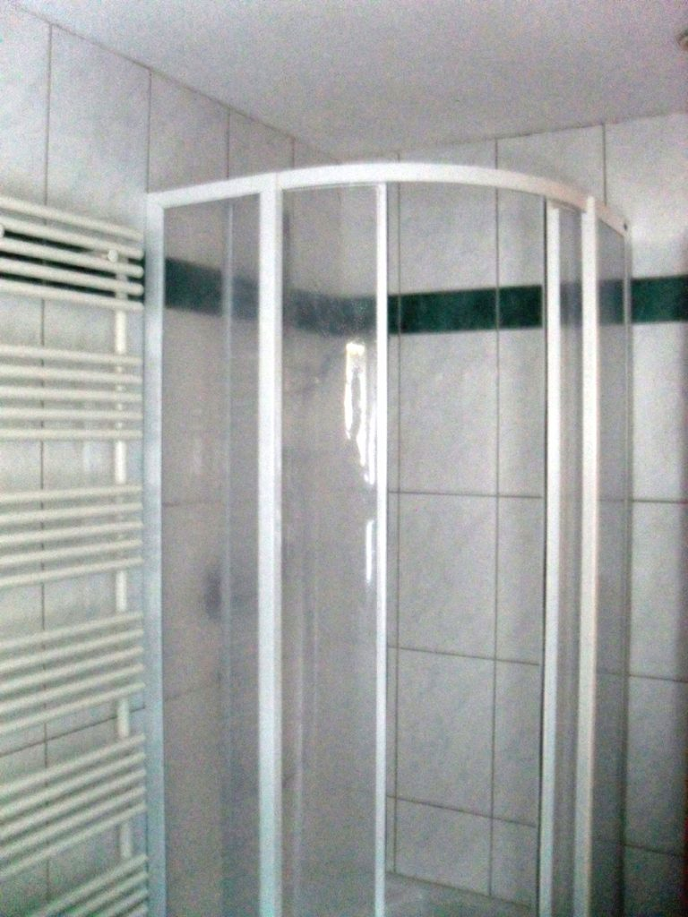 Shower room in St.Anton village centre apartment