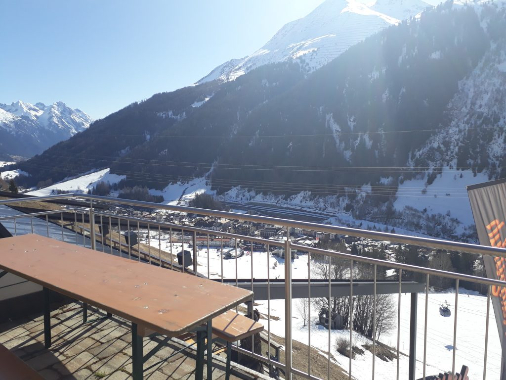 View of St Anton from Ski in Apartment