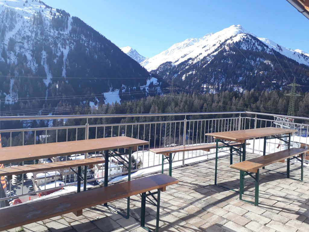 Balcony of St.Anton ski in apartment with three bedrooms