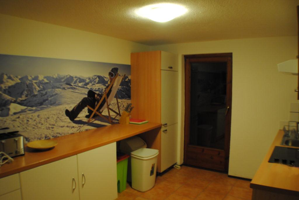 St.Anton village centre apartment kitchen