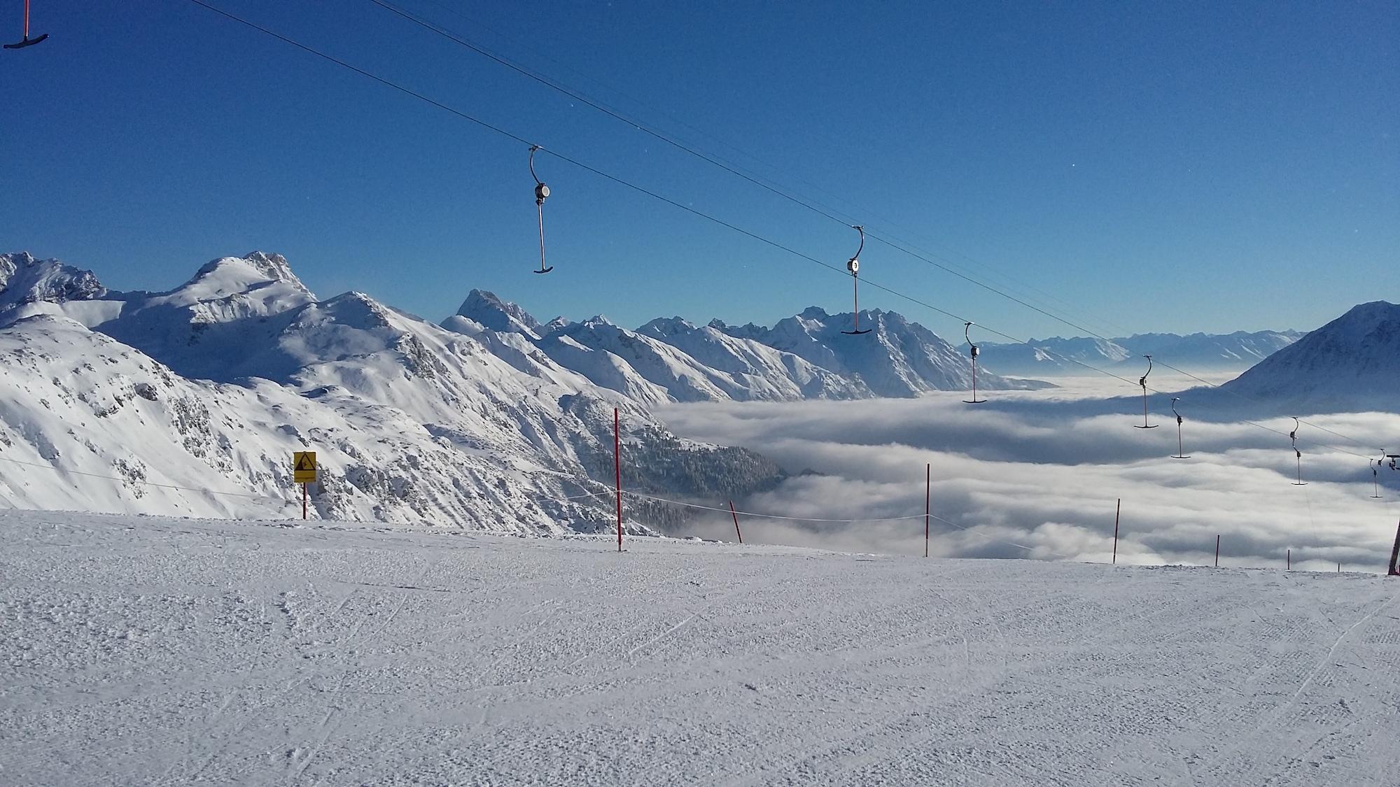 St.anton Skiing Holidays Piste View