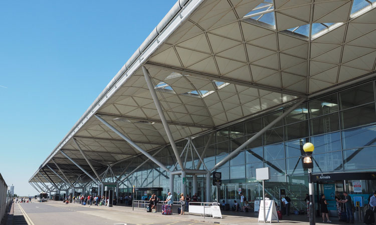 Stansted Airport where you can fly to St.Anton from.